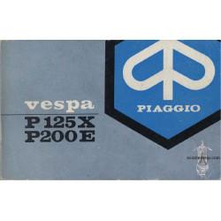 Piaggio Vespa P125x P200e Operation Maintenance