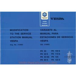 Piaggio Vespa Pk 50 Pk 50s Pk 50ss Pk 80s Pl 100s Pk 110s Pk 125 Pk 125s Manual De Reparatie