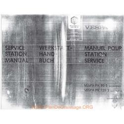 Piaggio Vespa Pk 80s Pk 125s Manual De Reparatie