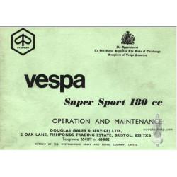 Piaggio Vespa Super Sport 180cc Operation Maintenance