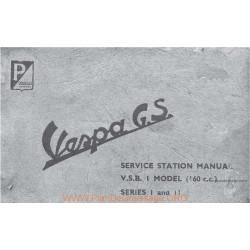 Piaggio Vespa Vsb1t Gs 160 Manual De Reparatie