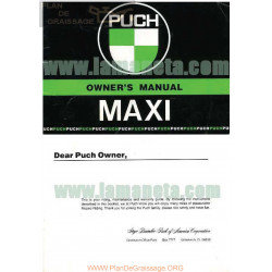Puch Maxi Manual De Usuario Ingles