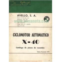 Puch X 40 Catalogo Piezas Recambio