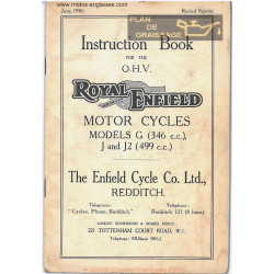 Royal Enfield 346cc 499cc G J2 Ibook 1950