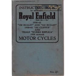 Royal Enfield 350cc 500cc Clipper Ibook 1956