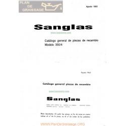 Sanglas 350 4 Despiece 1963