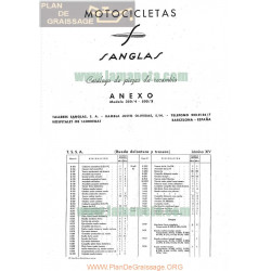 Sanglas 350 4 Y 500 3 Despiece Anexo
