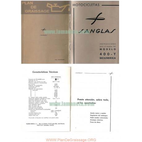 Sanglas 400 Y Manual Instrucciones