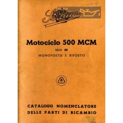 Sertum 500 Mcm Monoposto E Biposto Cat Delle Parti Di Ricambio Edizione Del 1943