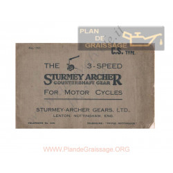 Sturmey Archer Brochure 3 Speed Gearbox Cs Type 1926
