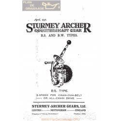 Sturmey Archer Caja Cambio Type B S Y B W Lista De Repuesto E Instrucciones 1930 Ingles