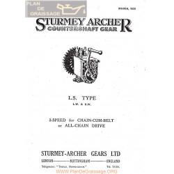 Sturmey Archer Caja Cambio Type Ls 1929 Ingles