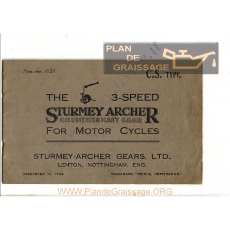 Sturmey Archer Cs 3speed Motor Cycles 1929