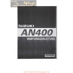 Suzuki An 400 2001 Manual De Reparatie