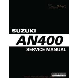 Suzuki An 400 K3 Burgman Manual De Reparatie