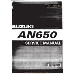 Suzuki An650 Burgman 03 Service Manual