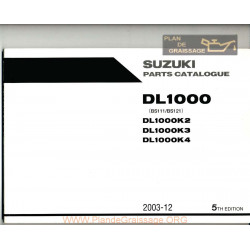 Suzuki Dl 1000 K2 K3 K4 Parts List