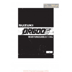 Suzuki Dr 600 S 85 86 Repair Manual