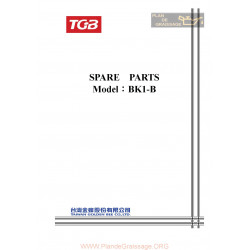 Tgb 50 Bk1 B Parts List