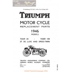 Triumph 1946 Tiger 85 100 3t De Luxe And Speed Twin