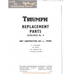 Triumph 1966 650 Unit Twins All Models Export