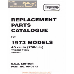 Triumph 1973 T150v Parts Book