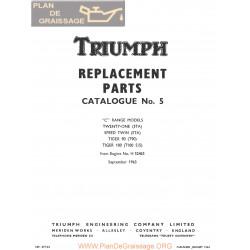 Triumph 350 500 Unit Twins 1964 Parts Book Export