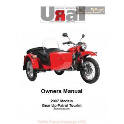 Ural Gear Up Patrol Tourist 2007 Manual De Intretinere