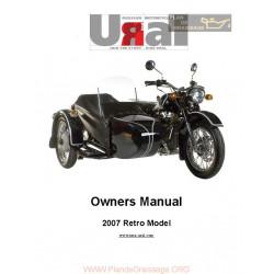 Ural Retro Model 2007 Manual De Intretinere