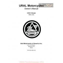 Ural Retro Solo 2003 Manual De Intretinere