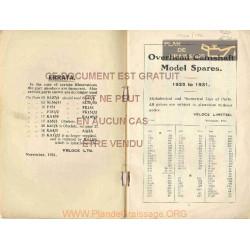 Velocette Part List 1925 1931