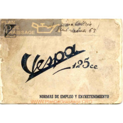 Vespa 125 Cc Manual Usuario 1956