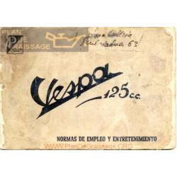 Vespa 125 N Manual Uso Y Mantenimiento Edicicon