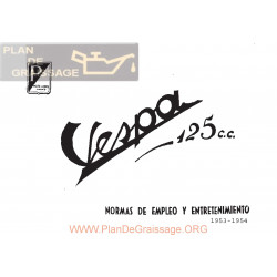 Vespa 125 N Manual Usuario 1953 54