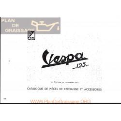 Vespa 125 Version 1953 Despiece Edicion 1952 Fr