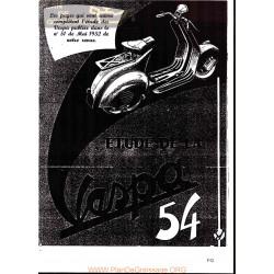 Vespa 125 Version 1954 Estudio Rmt Fr