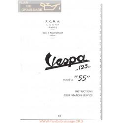 Vespa 125 Version 1955 Manual De Taller Y Notas Fr