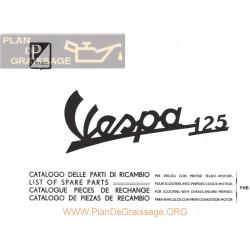 Vespa 125 Vnb1 2 Despiece Edicicon 1961 It Fr Gb Sp
