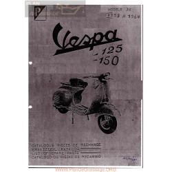 Vespa 125 Vnb2 3 4 5 1961 1965 Despiece Fr