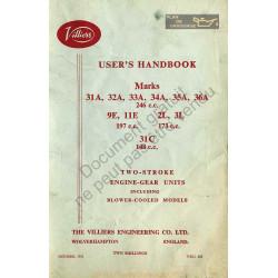 Villiers 31a 36a 246cc 19cc 173cc Manual De Utilizare 1962