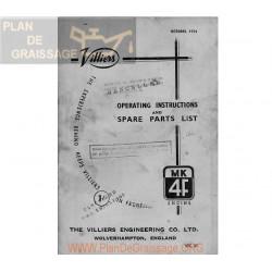 Villiers 4f 1954 Manual Y Despiece
