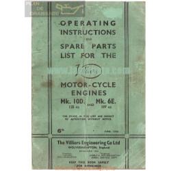 Villiers Manual Motor Mk 10d 125cc Y Mk 6e 197cc