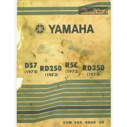Yamaha Ds7 1972 Rd 250 1973 R5c 1972 Rd 350 1973 Manual De Reparatie