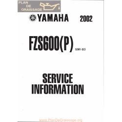 Yamaha Fazer Fzs 600 P 2002 Service Info