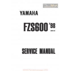 Yamaha Fazer Fzs600 Service Manual 1998