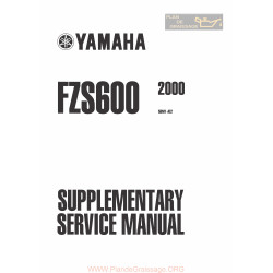 Yamaha Fazer Fzs600 Service Manual 2000