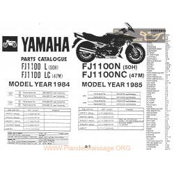Yamaha Fj 1100 1200 1984 1985 Microfise