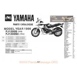 Yamaha Fj 1100 1200 1986 Microfise