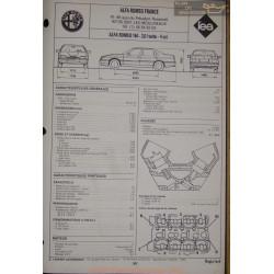 Alfa Romeo 164 2000 Turbe Fiche Technique