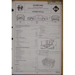 Alfa Romeo 164 V6 Turbo Fiche Technique